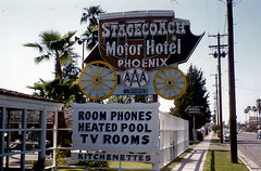 Homes Away from Home (Mlle.Lapin) Tags: motels motelsigns motorhotels vintagemotels vintagemotelsigns phoenixaz1950s stagecoachmotorhotel