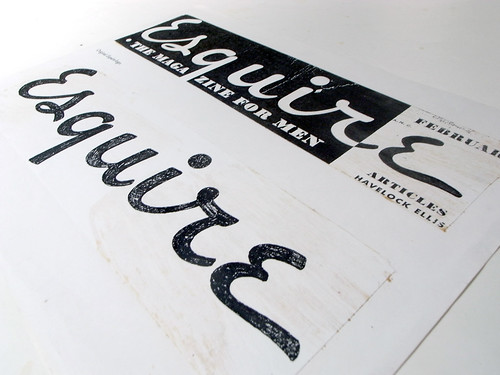 Esquire Logo Process - Jim Parkinson