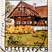 beautiful stamp Austria € 1.00 100c Weststeirisches Bauernhaus (Styria Farmhouse; autumn, harvest, fall, Herbst) francobolli bollo Austria selo sellos poste timbre Autriche postage Rossegg Steiermark Briefmarke Österreich francobolli selos postage € 1