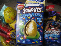 Smarties Easter egg (georgiarae) Tags: easter chocolate smarties eggs cadburys dairymilk cremeegg milkybar