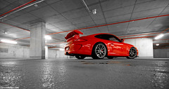 GT3. (Denniske) Tags: red canon rouge photography eos angle 10 04 wide sigma automotive porsche coloring april mk2 mm dennis 1020 rood rosso 8th 08 2010 selective mkii rheinlandpfalz gt3 997 noten nurburg f456 rt 400d denniske dennisnotencom porsche997gt3mkiibydennisnotencom