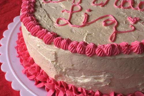 Pink Champagne Cake, Detail