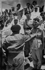 Hussein Ibn Talal [RF: Jordan RF];Saud Ibn Abdul Aziz [RF: Saudi Arabia RF] (K_Saud) Tags: king battle east jordan saudi arabia after middle foreign abdul hussein talal rf aziz ibn relations officers saud timeincown maneuvers abdula congradulating 934979