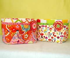 Fabric containers (Holland Fabric House) Tags: baby kids box container fabric alexanderhenry hollandfabrichousezacka