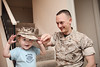 My silly boys (kicksie) Tags: usmc daddy toddler isaac cover judah marpat