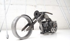 Year of the Chopper motorcycle sculpture for charity