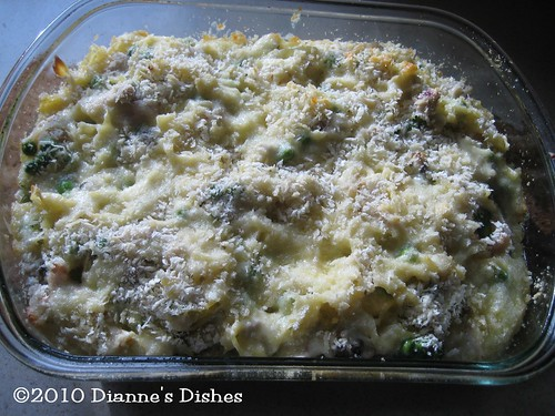 Grown Up Tuna Casserole: Baked