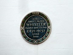 Photo of James Abbott Mcneil Whistler blue plaque