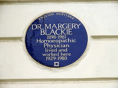 Photo of Margery Blackie blue plaque