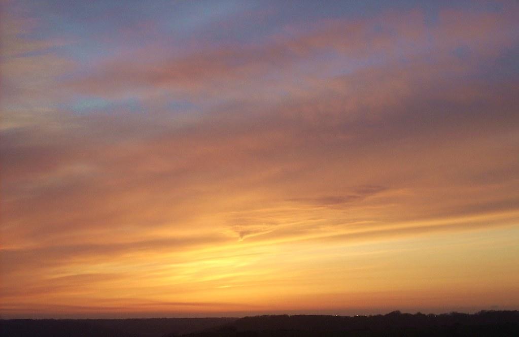 Ash Cloud Sunset