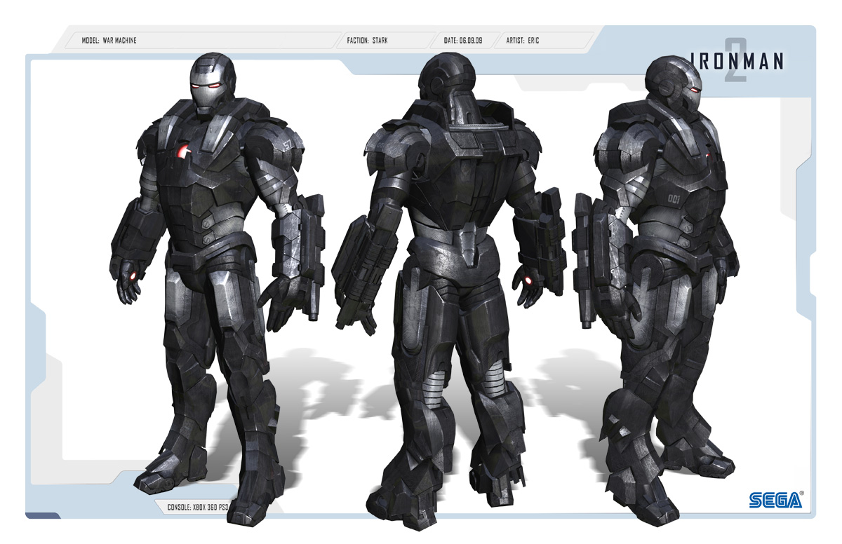 Iron Man 2 Game War Machine armor
