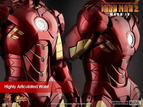 Iron Man 2 Mark IV Limited Edition cintura articulada