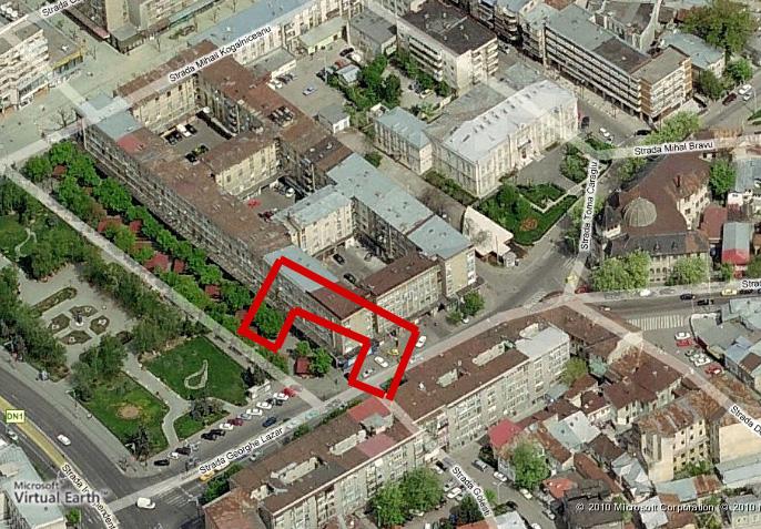 Palatul Bailor Municipale - Amplasament aproximativ