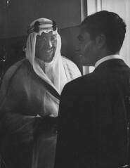 Mohamed Reza [RF: Iran RF];Saud Ibn Abdul Aziz [RF: Saudi Arabia RF] (K_Saud) Tags: smile during king iran visit east saudi arabia middle reza greeting abdul rf mohamed aziz ibn saud timeincnotown 967172