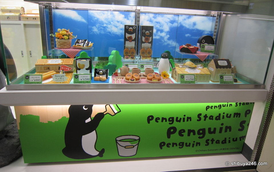 Nice selection of foods at the Penguin Stadium. I bet Chiharu Sakazaki is pleased to see how well received the Penguin has become.