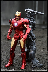 "7"" Iron Man Mark IV & War Machine (EdwardLee's collection) Tags: 2 man movie toy toys actionfigure war iron comic action mark 4 machine ironman diamond collection figure marvel tonystark select warmachine markiv edwardlees"
