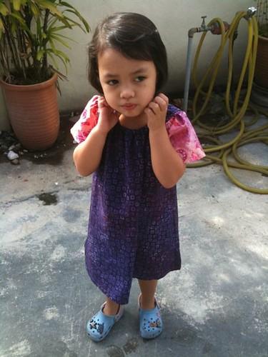 batik-purple peasant dress