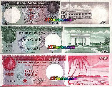 Ghana banknotes