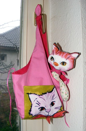 Two-sided cat bag