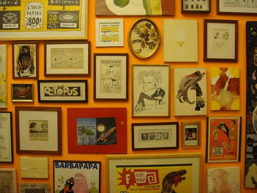 Detalle de la pared de mi estudio
