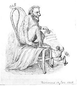 Lincoln as monkey