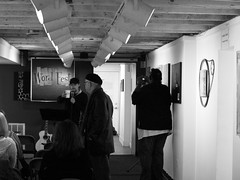 Getting ready (KJSpencer) Tags: ny newyork word poetry cluster psycho poet albany fest poets wordfest