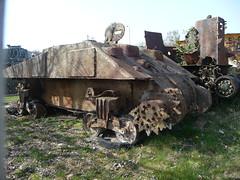 Rusting Sherman hull (simononly) Tags: uk england museum army spring war tank military iraq nazi german soviet dorset ww2 vehicle british ww1 coldwar 2010 bovington allied