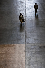 in passing (Diana Pappas) Tags: above uk england people woman man london museum observation strangers tatemodern turbinehall passing