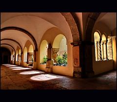 - peaceful place (klaus53) Tags: bayern bavaria berchtesgaden nikon peace roman cloister romanesque schloss kreuzgang romanik mywinners vanagram