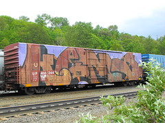 KEMS! The whole damned car! (Anything for thee Shot) Tags: portland graffiti freight wholecar benching kems