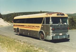 Yellowstone National Park Bus.  Wyoming  1984.