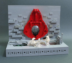 The Gates of All Creation (crises_crs) Tags: red lego gates space diorama lugpol