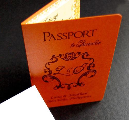 The Vintage Frame Passport Invite Wedding in Philippines