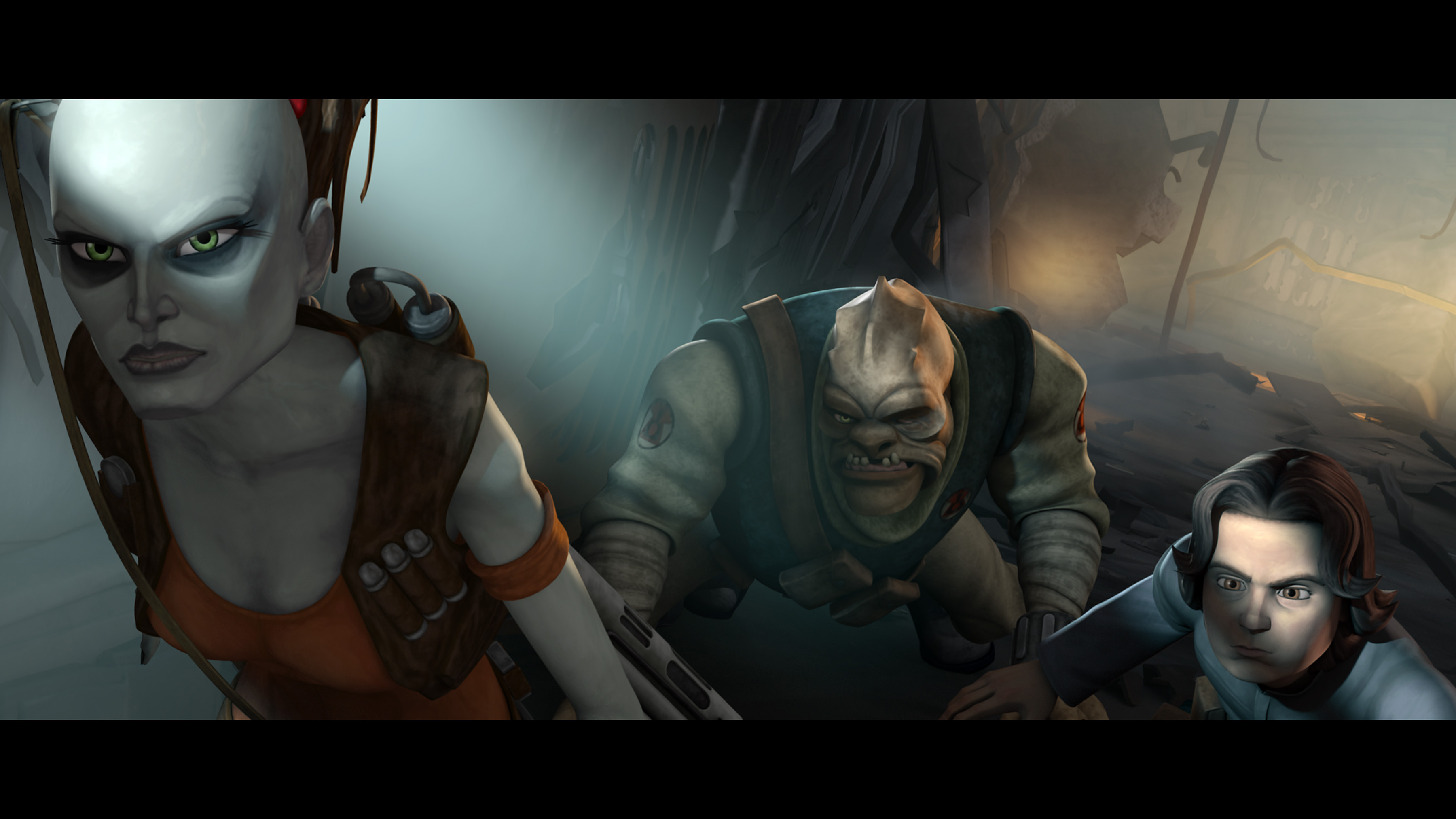 Bounty hunter Aurra Sing leads Boba Fett on a quest for revenge in the season finale of STAR WARS: THE CLONE WARS premiering at 9:00 p.m. ET/PT Friday, April 30 on Cartoon Network. /TM & © 2010 Lucasfilm Ltd. All rights reserved.