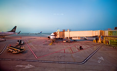 05:02 AM (isayx3) Tags: california morning light sun ontario plane airplane dawn airport haze nikon angle wide sigma continental luggage airlines f28 boarding d3 loading 14mm plainjoe isayx3