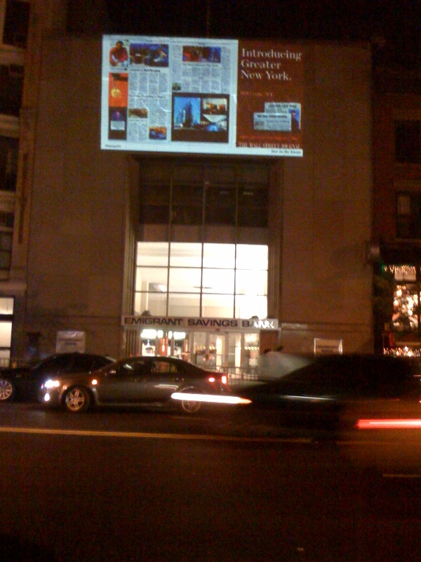 wall street journal advertising chelsea west 23rd street