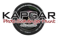 Kapgar Photo Scavenger Hunt, May 2010, logo