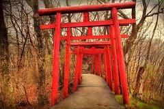 Onsen Shrine (arcreyes [-ratamahatta-]) Tags: japan photoshop canon shrine gates textures onsen torii canoneos hdr ropeway kinugawaonsen 3xp photomatix canoneos7d onsenshirine