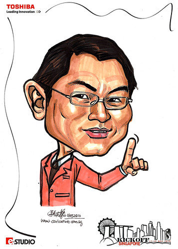 Caricature of Mel tong