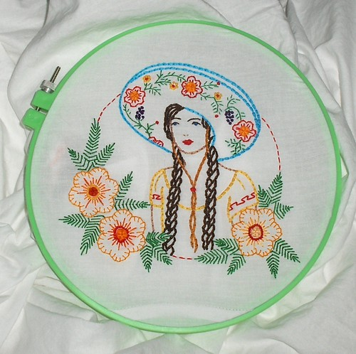 Senorita in Ornate Sombrero