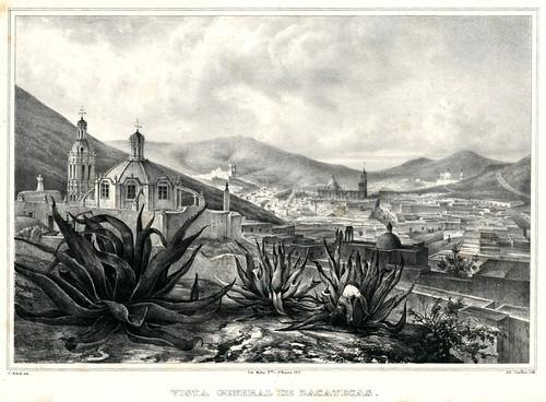 022- Vista general de Zacatecas-Voyage pittoresque et archéologique dans la partie la plus intéressante du Mexique1836-Carl Nebel