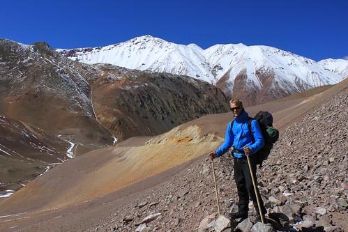 Trekking close to Paso de Agua Negra