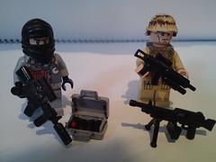 terror vs Marine ( !! ) Tags: brown white black usmc private army for saw gun desert lego scope military tan terrorist m249 weapon terror marines op minifig dynamite bombs weapons m4a1 ak5 brickarms