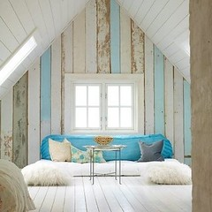 my  ideal home (Our Designed Life) Tags: blue white attic interiordesign homedecor woodenwalls