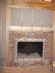 Rosey's fireplace before