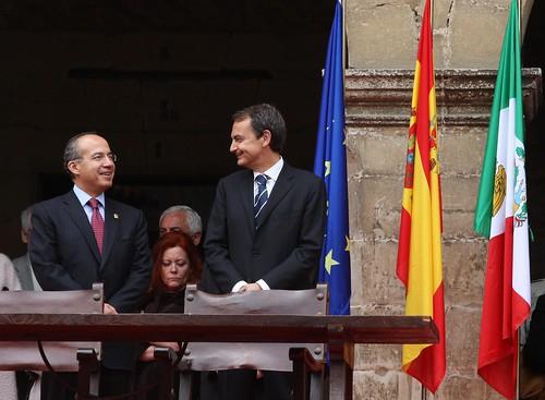 Los rpesidente de Mexico y España