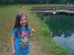 Isabels First Fish of the Day