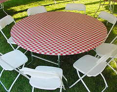 Red Gingham Rnd
