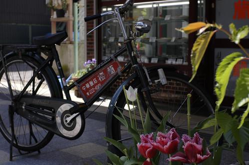 街の自転車