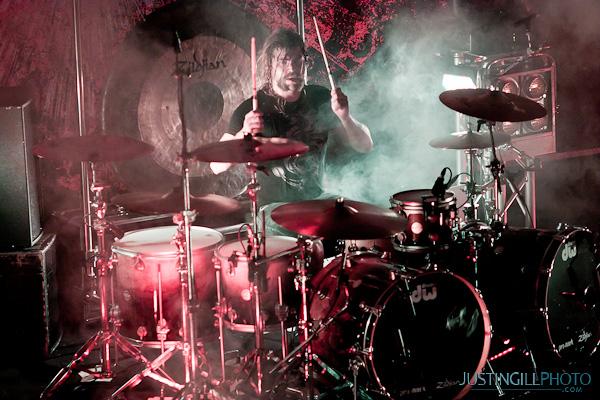 As I Lay Dying Drummer Jordan Mancino Concert